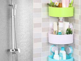 Sucker-Corner-Triangle-Shelf-Bathroom-Kitchen-Storage-Rack All Market BD