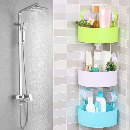 Sucker-Corner-Triangle-Shelf-Bathroom-Kitchen-Storage-Rack All Market BD
