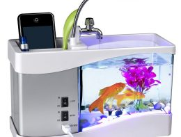 usb-power-supply-desktop-aquarium-with-alarm-clock-calendar-water-recirculation-pen-holder-fish-tank (1) All Market BD