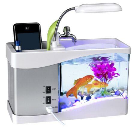 usb-power-supply-desktop-aquarium-with-alarm-clock-calendar-water-recirculation-pen-holder-fish-tank (1) All Market BD