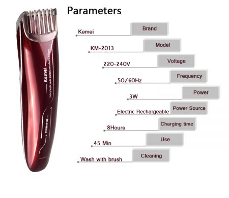 Kemei2013 Electric Baby Hair Clipper Rechargeable Hair Trimmer Shaver Razor All Market BD