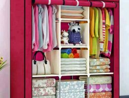 Portable Wardrobe-3 layer almirah
